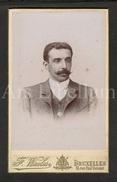 Photo-carte De Visite / CDV / W / Foto / Homme / Man / Photo F. Waeles / Bruxelles - Ancianas (antes De 1900)