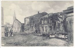 Cpa Rouwers - Guerre, Ww1, Ruines, Tampon Militaire - France