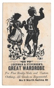 Victorian Trade Card Liberman & Stevensons Great Wardrobe Syracuse NY Silhouette Dancers - Other