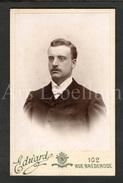 Photo-carte De Visite / CDV / W / Foto / Homme / Man / Photo Edward / Antwerpen - Ancianas (antes De 1900)