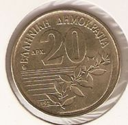 Moneda Grecia. 20 Apaxmai 1992. MBC. Ref. 4-grecia20a-92 - Grecia