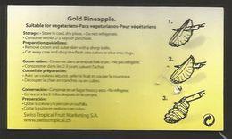 # PINEAPPLE ROSWITHA TYPE 4 Fruit Tag Balise Etiqueta Anhanger Ananas Pina Costa Rica - Fruits & Vegetables
