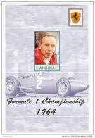 Angola - Foglietto Nuovo Dedicato Ai Campioni Di F1 Su Ferrari - Surtees 1964 - Cars