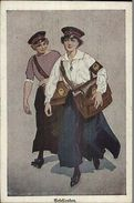 Cross-Dressing Gender Bending - German Women Mail Postal Carriers - Postcard - Illustratoren & Fotografen