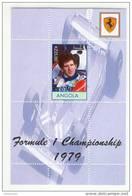 Angola - Foglietto Nuovo Dedicato Ai Campioni Di F1 Su Ferrari - Scheckter 1979 - Cars