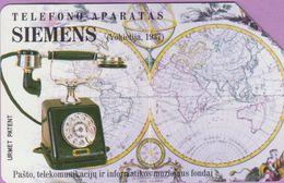 Télécarte Lituanie °° Téléphone Siemens 1937 – Urmet - Lituanie