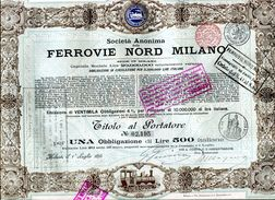 Italie: FERROVIE NORD MILANO; Una Obbligazione - Railway & Tramway