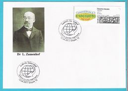 Poland 2017,cover SLUPSK, (1), Esperanto, L.Zamenhof, Languages, - Esperanto