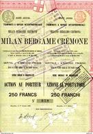 Italie: Tramways à Vapeur Interprovinciaux  MILAN BERGAME CREMONE - Railway & Tramway