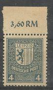 """Sowjetische Zone 157y OR"""" 4 Pfg.-Briefmarke Zur Leipziger Messe 1946,aus Satz Gelbliches Papier"""" Postfrisch Mi.5,00 - Zone Soviétique"""