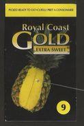 # PINEAPPLE ROYAL COAST GOLD Type 2 Size 9 Fruit Tag Balise Etiqueta Anhanger Ananas Pina Costa Rica - Fruits & Vegetables
