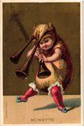 6 Trade Cards Music Instruments Accordéon Contrabasse Musette Grosse Caisse Cymbales Cor De Chasse  Imp.BOGNARD Litho - Chromos