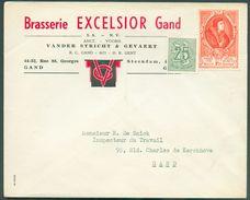BELGIQUE Enveloppe En Tête BRASERIE EXCELSSIOR GAND (affr.UPU) Fond. Vander Stricht & Gevaert - 12171 - Bières