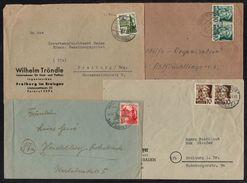 ZOF - ZONE FRANCAISE - BADEN - BADE / 1947-1949 ENSEMBLE DE 12 LETTRES / 3 IMAGES (ref 6527) - Zone Française