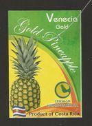 # PINEAPPLE VENECIA GOLD Type 2, Fruit Tag Balise Etiqueta Anhanger Ananas Pina Costa Rica - Fruits & Vegetables
