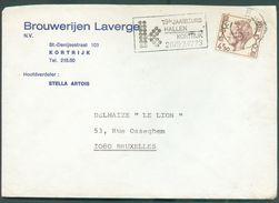 BELGIQUE N°1644 Obl. Méc. KORTIJK Sur Lettre En-tête BROUWERIJ LAVERGE  - 12174 - Bières