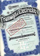 Italie: TRAMWAYS & ÉLECTRICITÉ - Railway & Tramway