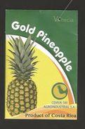 # PINEAPPLE VENECIA GOLD Type 3, Fruit Tag Balise Etiqueta Anhanger Ananas Pina Costa Rica - Fruits & Vegetables