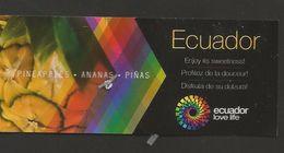 # PINEAPPLE ECUADOR TRAVEL Fruit Tag Balise Etiqueta Anhanger Ananas Pina Ecuador - Fruits & Vegetables