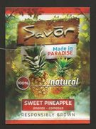 # PINEAPPLE SAVOR MADE IN PARADISE Fruit Tag Balise Etiqueta Anhanger Ananas Comosus Pina Costa Rica - Fruits & Vegetables
