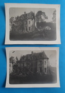 2 Photos Août 1918 Chateau De SAINT AMAND MACHEMONT Arr COMPIEGNE Cant THOUROTTE OISE 60 DESTRUCTIONS GUERRE 1914-1918 - Lieux