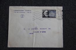 Enveloppe Timbrée En Provenance De PARIS, Laboratoire BADRIAL Et à Destination De SALLES D'AUDE - 1921-1960: Modern Period
