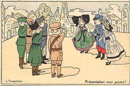 Ref 362- Guerre 1914-18-illustrateurs - Illustrateur L Tanqueret -enfants - Alsace Lorraine - - Guerra 1914-18