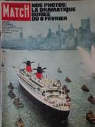 Paris Match N° 671 17 Février 1962 A Bord Du France; La Tragédie Du 8 Février; Suspens à Chamonix; Eileen; Ingrid - 1950 à Nos Jours