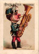 5 Trade Cards Chocolat MAESTRANI Suisse Tour St Jaques Fabrique D'Instruments De Musique Imprimeur  APPEL Hobo Trompette - Other