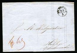A4864) AD Hannover Rechnungsbrief Von Hannover 23.5.1848 - Hannover