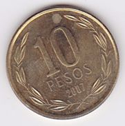Pièce 10 Pesos Chili 2007 - Chili