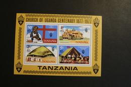 TANZANIA 1977 Uganda Church Centenary Souvenir Sheet Block MNH A04s - Tanzanie (1964-...)