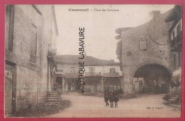 47 - CASSENEUIL---Place Des Cornières--animé - France