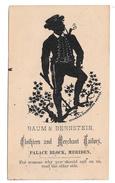 Victorian Trade Card Baum & Bernstein Clothes Tailor Palace Block Meriden CT Silhouette 1800 - Altri