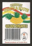 # PINEAPPLE CARIBBEAN GOLDEN Fruit Tag Balise Etiqueta Anhanger Ananas Pina Costa Rica - Fruits & Vegetables