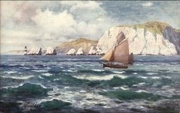 Isle Of Wight UK Lighthouse C1910 Postcard TUCK 7572 - Verenigd-Koninkrijk