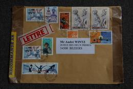 Enveloppe Timbrée Recommandée Moyen Format  De CHOLET à BEZIERS - Marcophilie (Lettres)