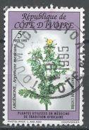 Ivory Coast 1993. Scott #933 (U) Flowers, Fleurs, Argemone Mexicana - Côte D'Ivoire (1960-...)