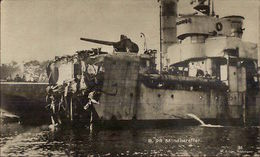 WWI Ship Destroyed By Mine C1915 German Real Photo Postcard - Militaria