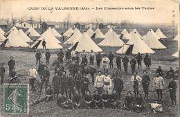 01-VALBONNE- CAMP DE LA VALBONNE - LES CHASSEURS SOUS LES TENTES - France