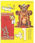 Découpis L'ours Qui Danse Création B. Sirven Non Découpé En Bon état - Dieren