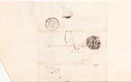 FRANCE ENVELOPPE DU 25 DEPTEMBRE 1848 DE BATIGNOLLES POUR PARIS - Marcophilie (Lettres)