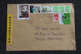 Enveloppe Timbrée Recommandée, Moyen Format De CHOLET à BEZIERS - Marcophilie (Lettres)
