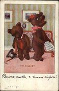 MDS Teddy Bears The Lullaby C1910 Fantasy Postcard - Illustratoren & Fotografen