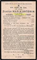 NON NUN ZUSTER MARIA ANTONIA AUGUSTA MARIA VAN VYNCKT OEDELEM 1889 GENT 1919 - Andachtsbilder