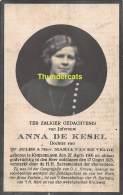ANNA DE KESEL VAN DE VELDE KNESSELARE 1906 1925 - Andachtsbilder