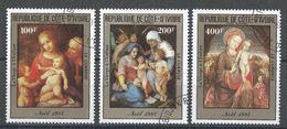 Ivory Coast 1985. Scott #C90-92 (U) Christmas, Paintings, Noël - Côte D'Ivoire (1960-...)