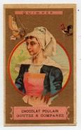 CHROMO Dorée Chocolat Poulain Hérold Quimper Bretagne Femme Coiffe Bateau Voilier Coq - Poulain