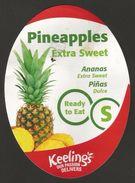 # PINEAPPLE KEELINGS IRELAND Type S - Fruit Tag Balise Etiqueta Anhanger Ananas Pina Costa Rica - Fruits & Vegetables