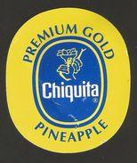 # PINEAPPLE CHIQUITA PREMIUM Type 2 Size 8 Fruit Tag Balise Etiqueta Anhanger Costa Rica Ananas Pina - Fruits & Vegetables